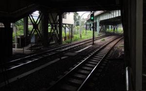 東京都新宿区四谷:四ッ谷駅JRホームから見る丸ノ内線ホーム
