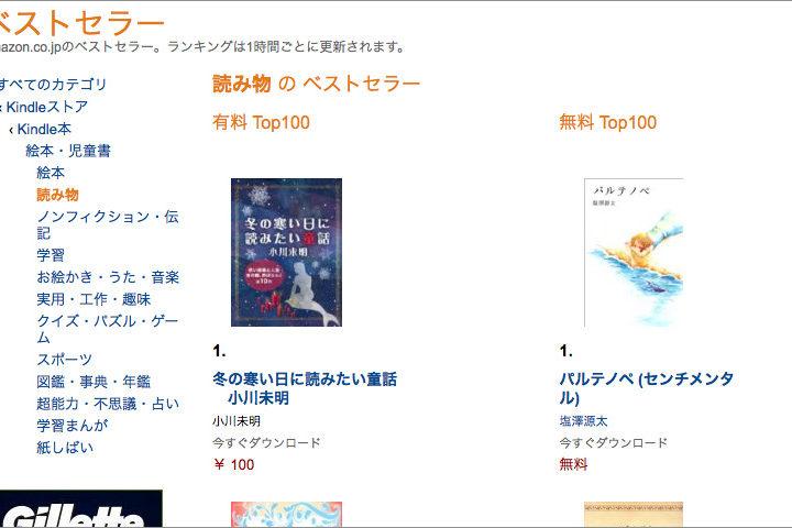 パルテノペ(塩澤源太)Amazon無料読み物(絵本・児童書)1位