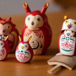 赤みみずく:江戸趣味小玩具仲見世 助六のものと備後屋のもの