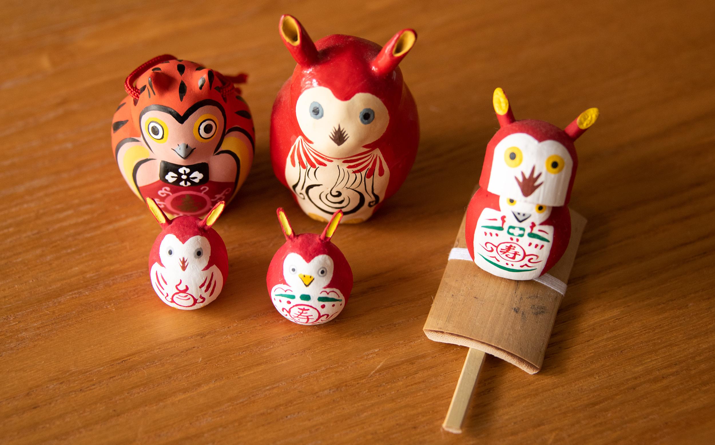 江戸趣味小玩具仲見世 助六と勅使川原型犬張り子江戸玩具制作 工房もんもの赤みみずく
