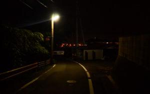 夜の坂道(山口県光市室積)
